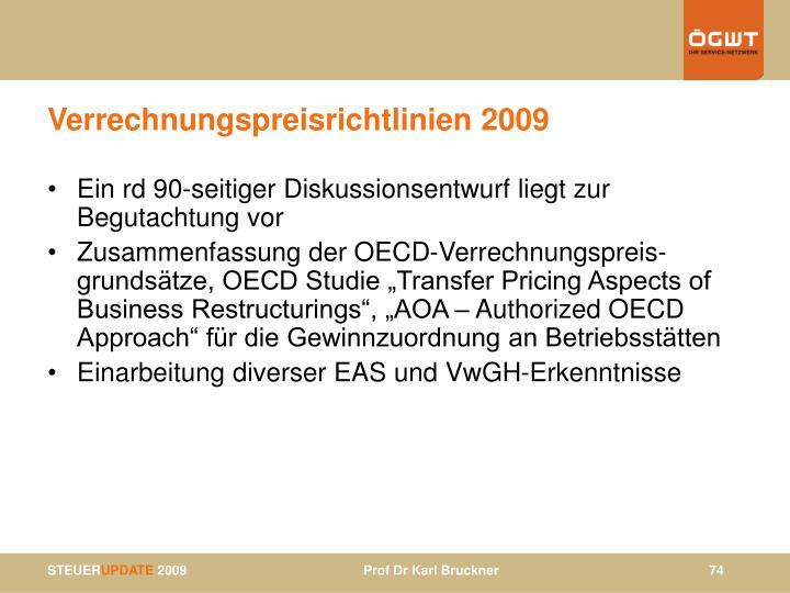Verrechnungspreisrichtlinien 2009