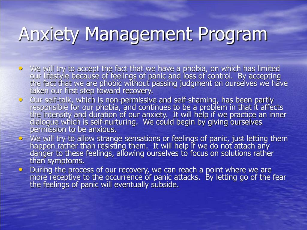 Anxiety Management Program