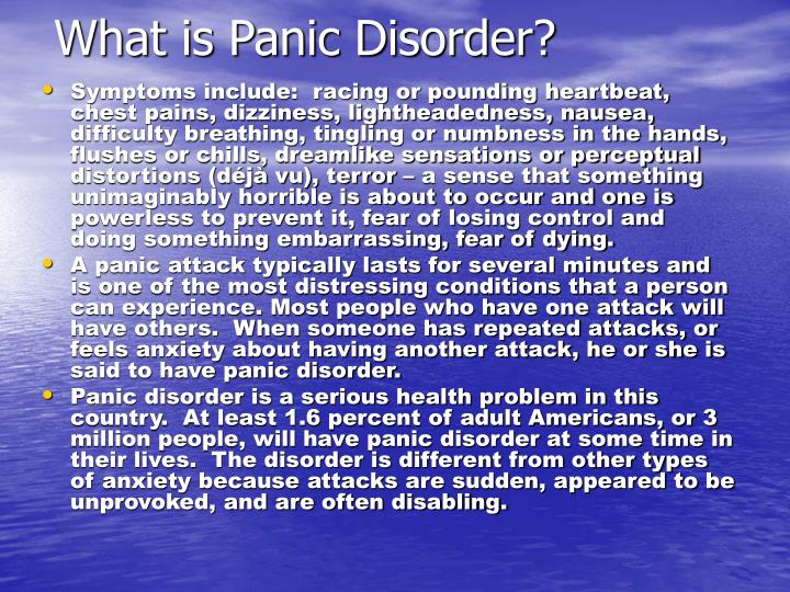 What is panic disorder l.jpg