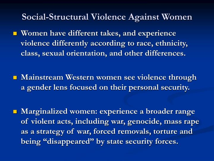 Social-Structural Violence Against Women