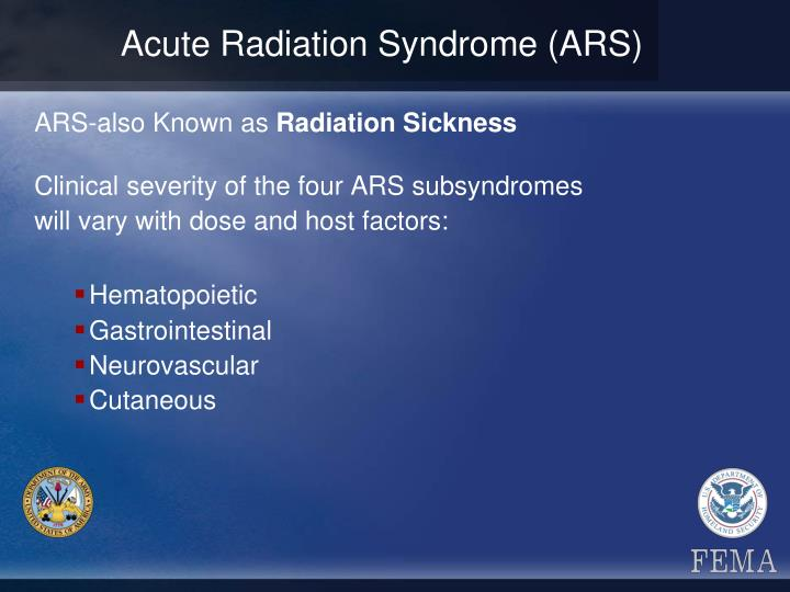 Acute Radiation Syndrome (ARS)