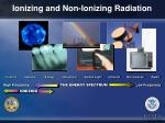 ionizing and non ionizing radiation