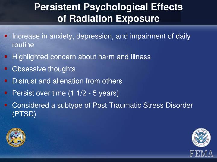 Persistent Psychological Effects