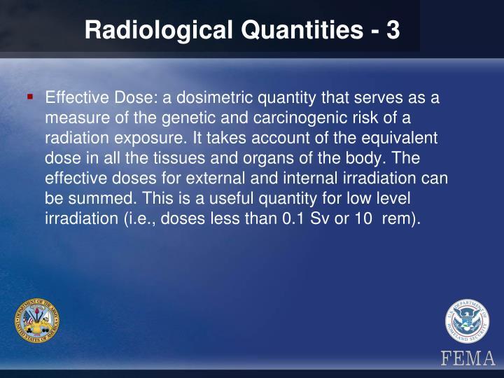 Radiological Quantities - 3