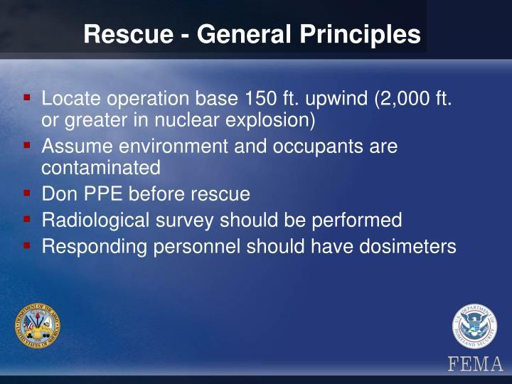 Rescue - General Principles