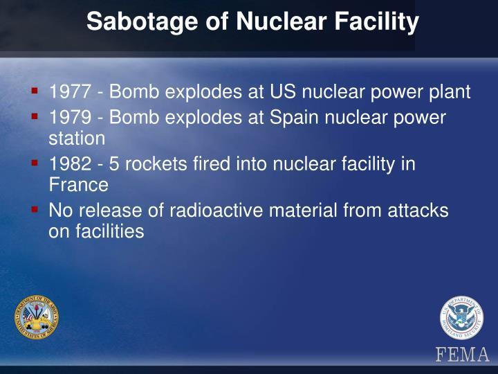Sabotage of Nuclear Facility