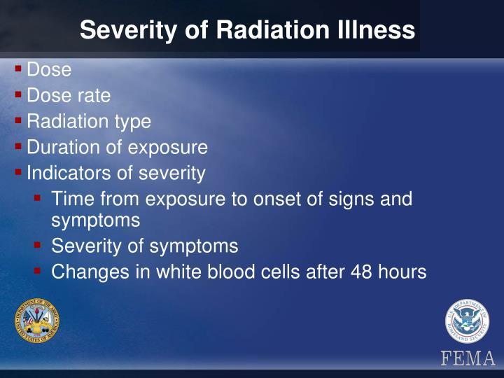 Severity of Radiation Illness