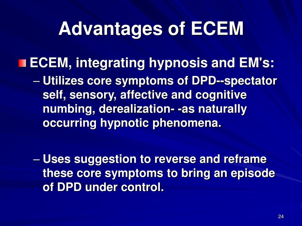 Advantages of ECEM