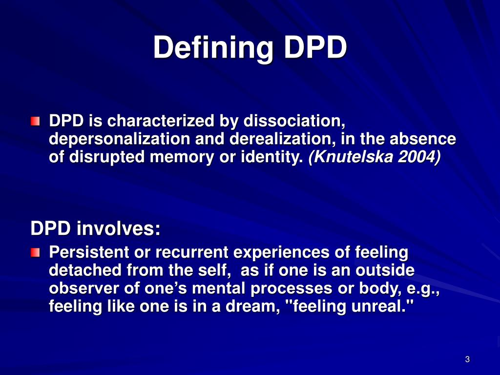 Defining DPD