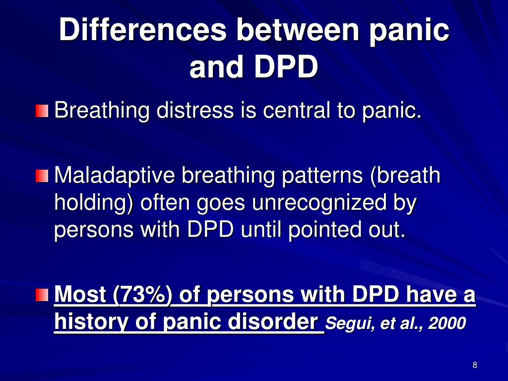 Differences between panic and DPD