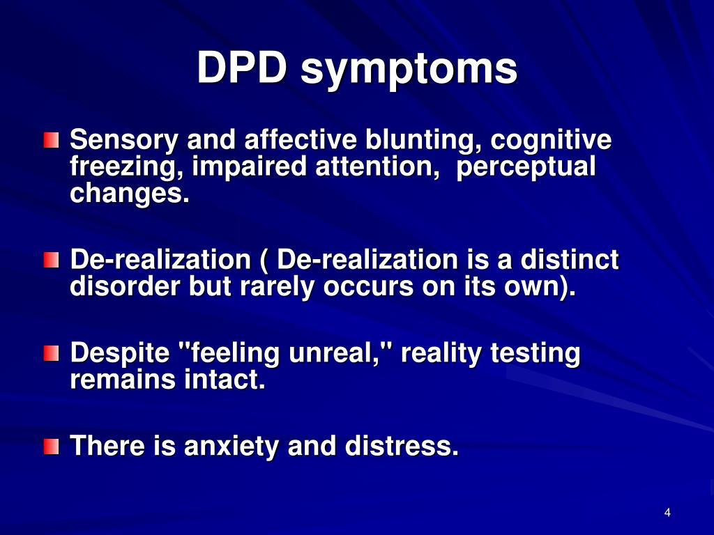 DPD symptoms