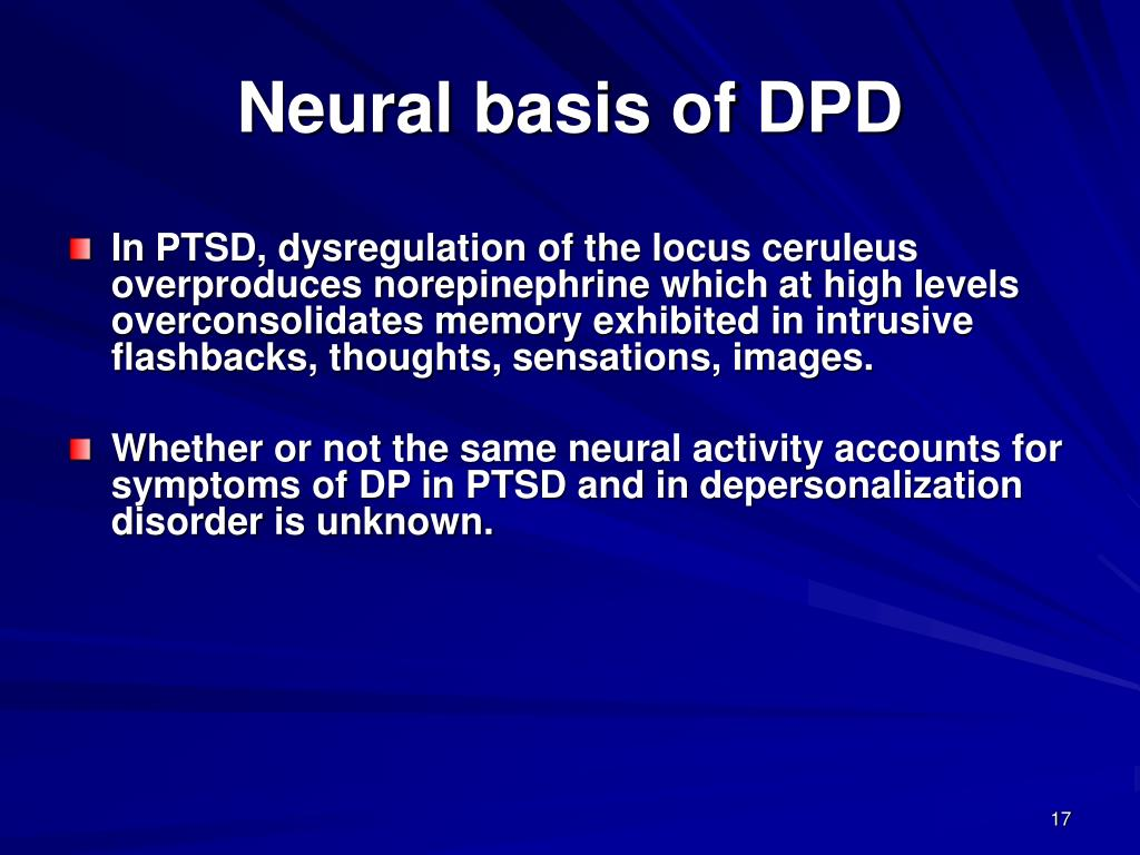 Neural basis of DPD