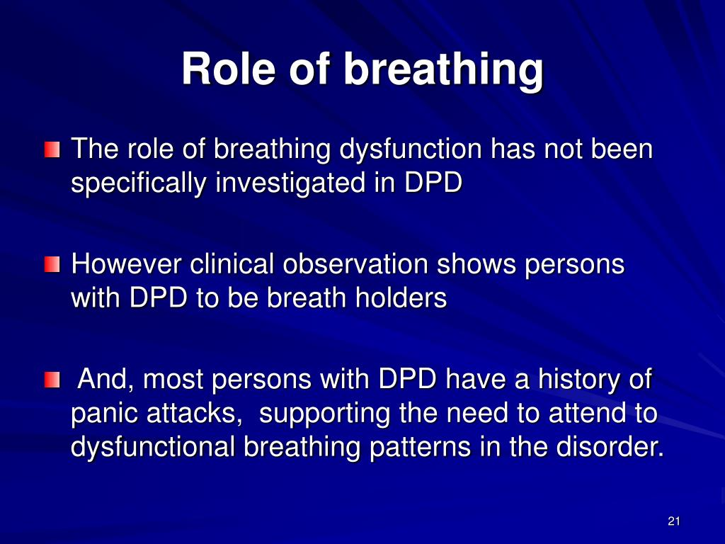 Role of breathing