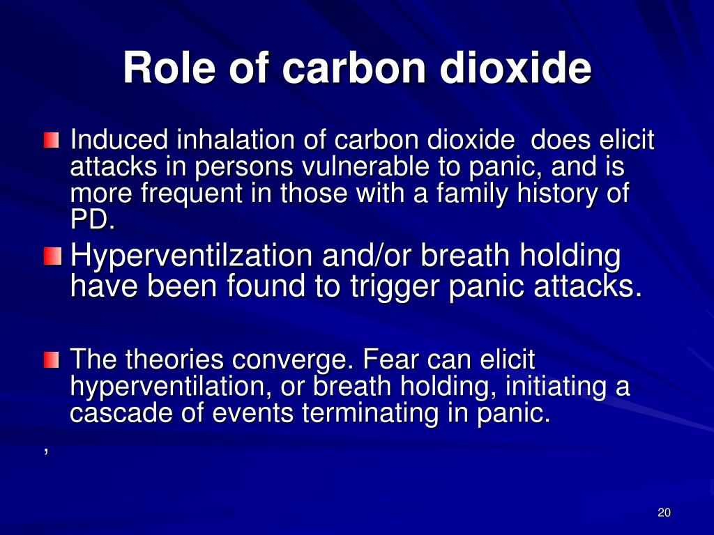 Role of carbon dioxide