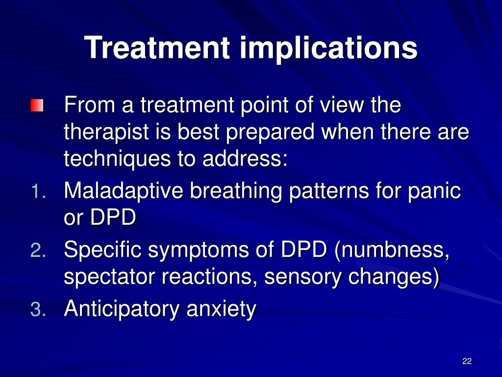 Treatment implications