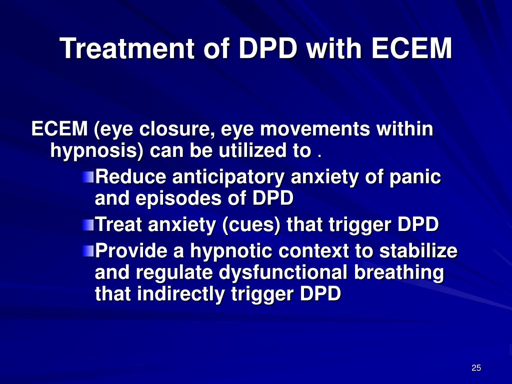 Treatment of DPD with ECEM