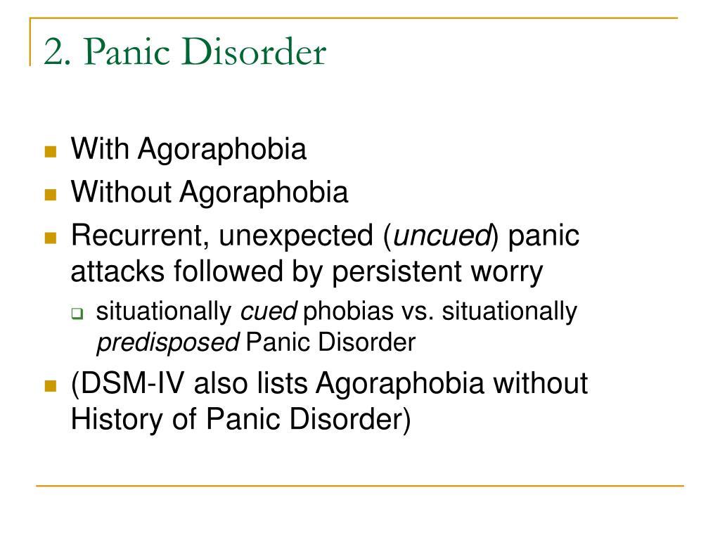 2. Panic Disorder