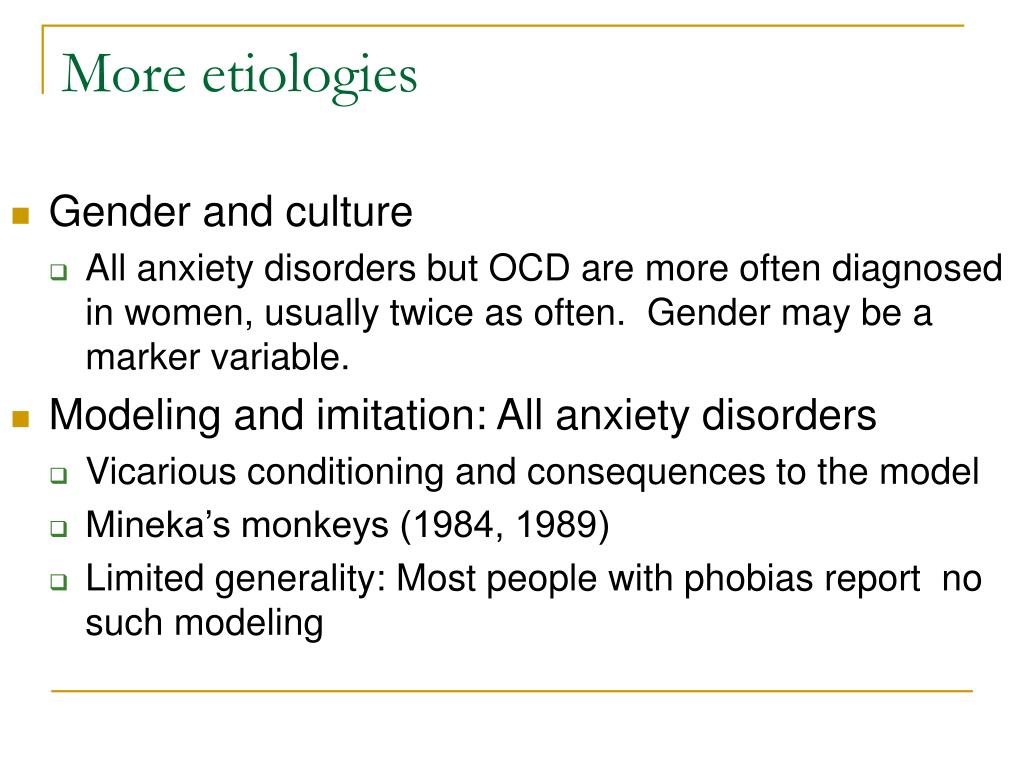 More etiologies