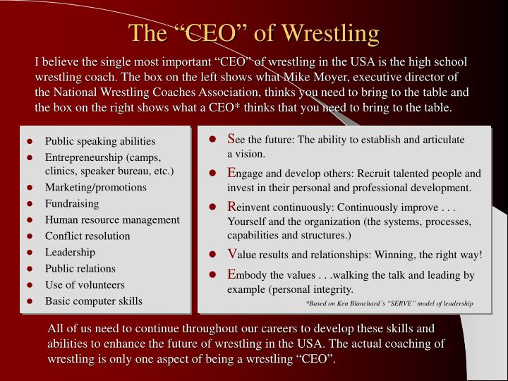 "The ""CEO"" of Wrestling"