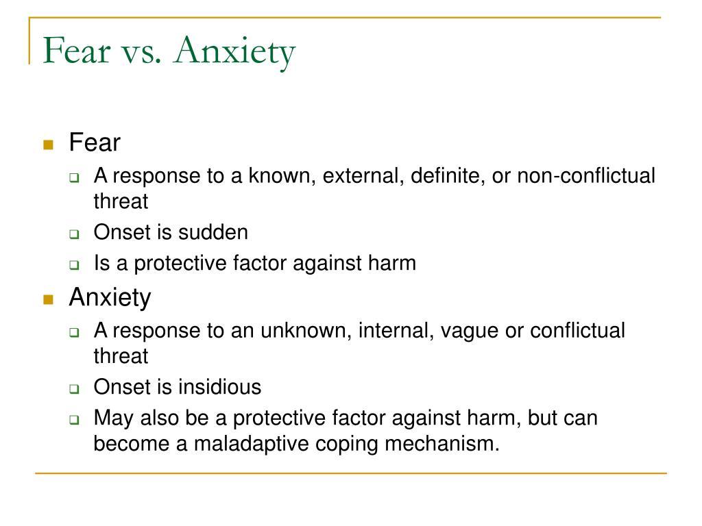 Fear vs. Anxiety