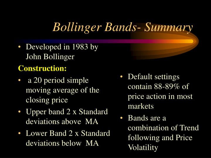What happens when bollinger bands tighten