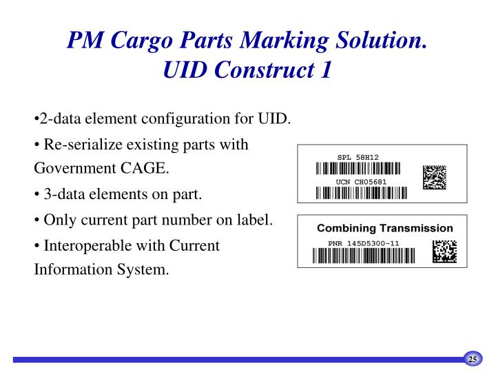 PM Cargo Parts Marking Solution.
