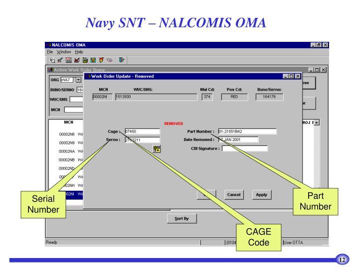 Navy SNT – NALCOMIS OMA