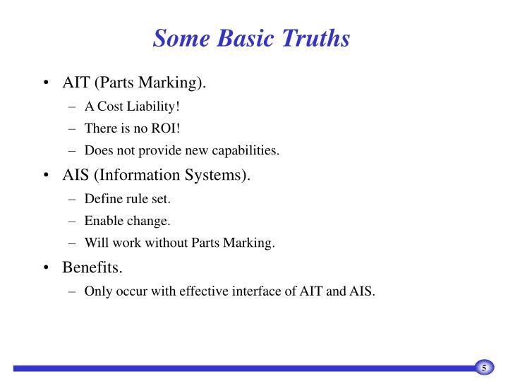 Some Basic Truths