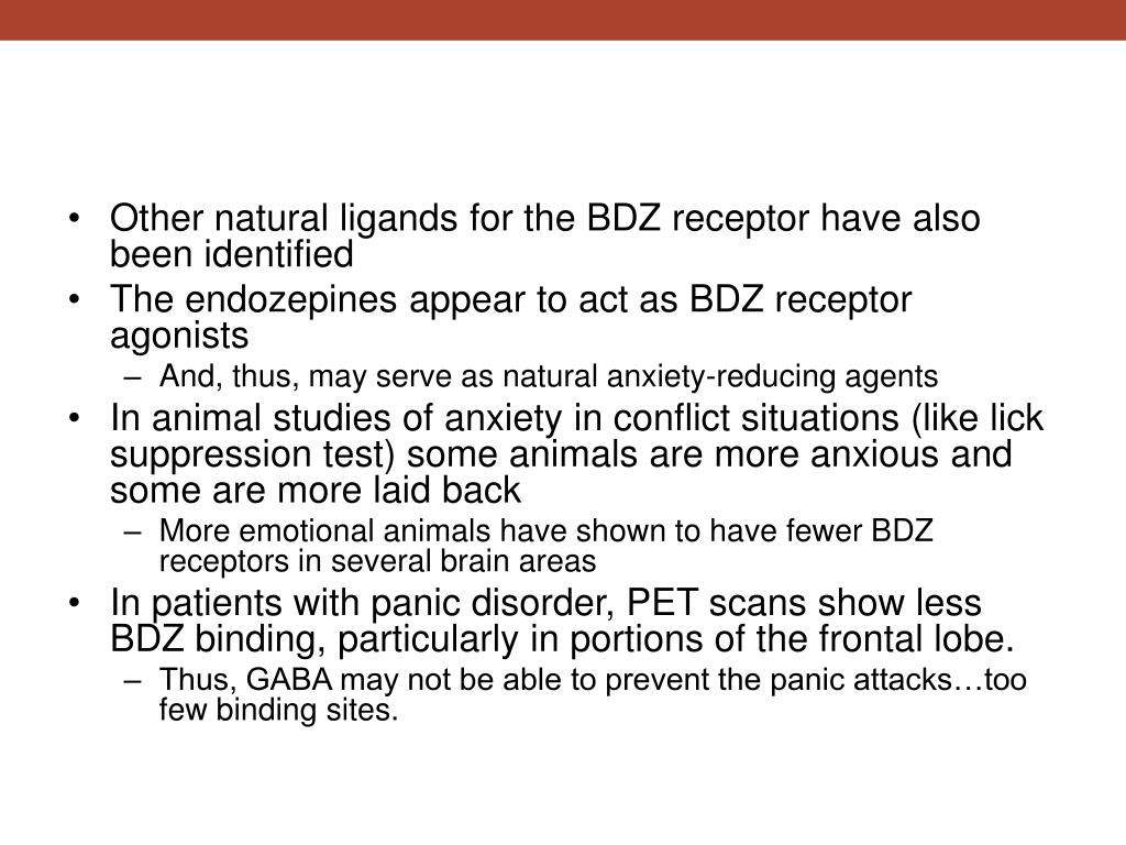 Other natural ligands for the BDZ receptor have also been identified