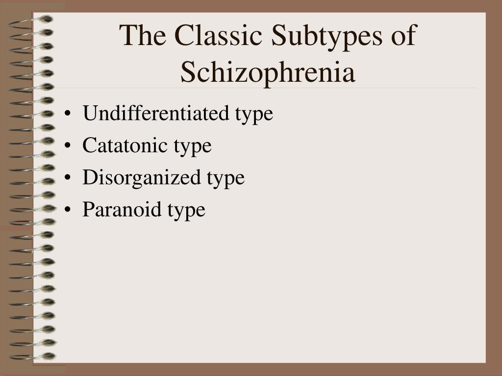 The Classic Subtypes of Schizophrenia