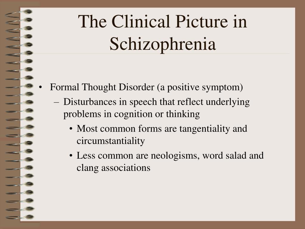 The Clinical Picture in Schizophrenia