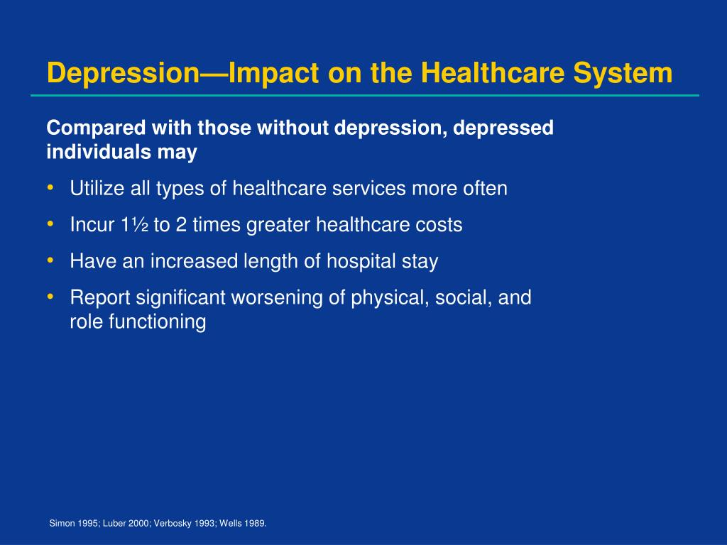 Depression—Impact on the Healthcare System