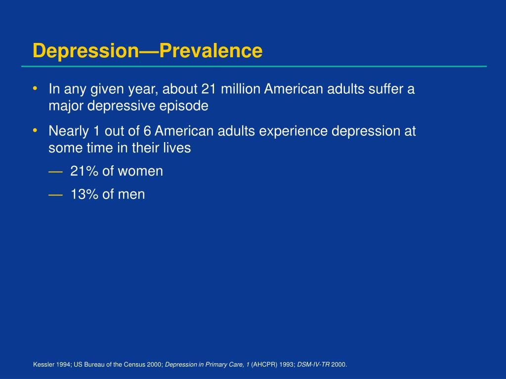 Depression—Prevalence