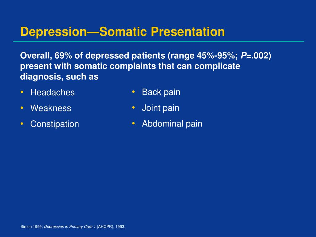 Depression—Somatic Presentation