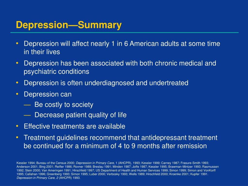 Depression—Summary