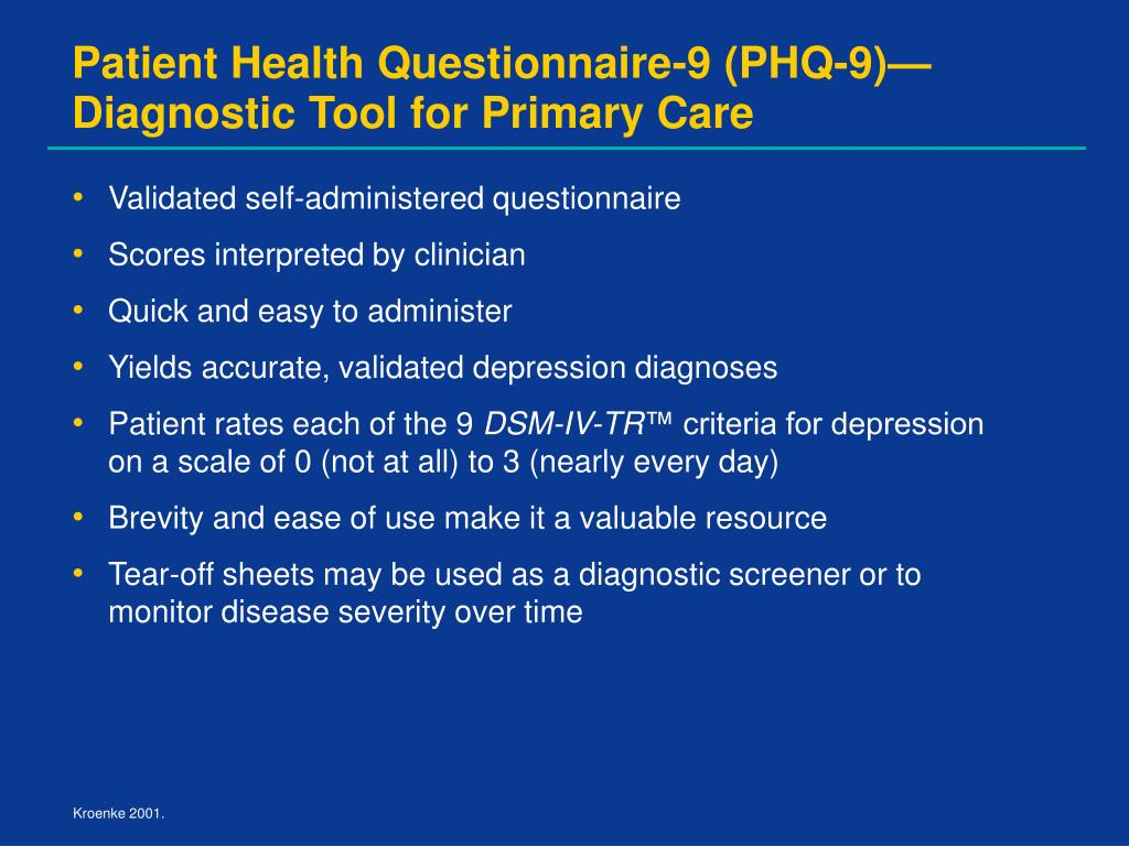 Patient Health Questionnaire-9 (PHQ-9)