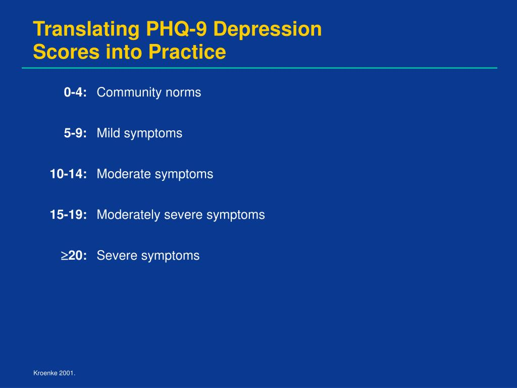 Translating PHQ-9 Depression