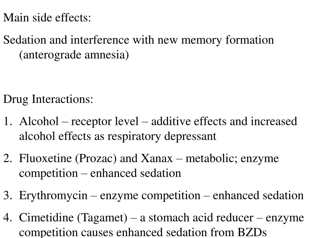 Main side effects: