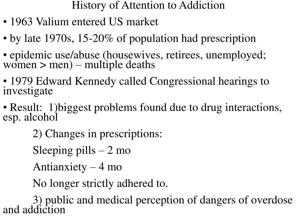 History of Attention to Addiction