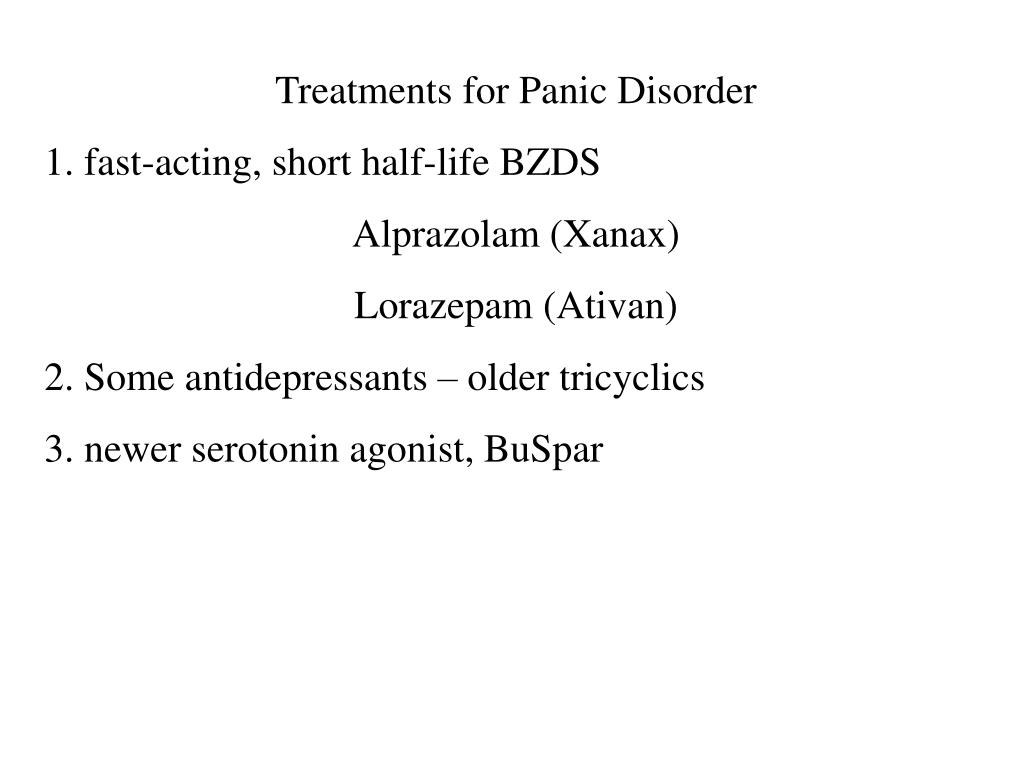 Treatments for Panic Disorder