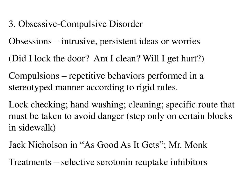 3. Obsessive-Compulsive Disorder