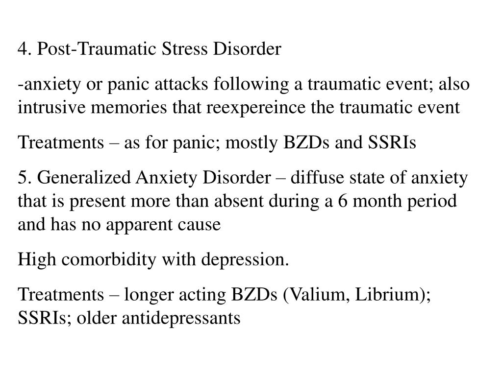 4. Post-Traumatic Stress Disorder
