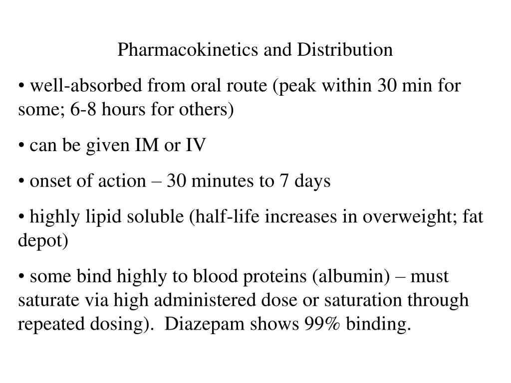 Pharmacokinetics and Distribution