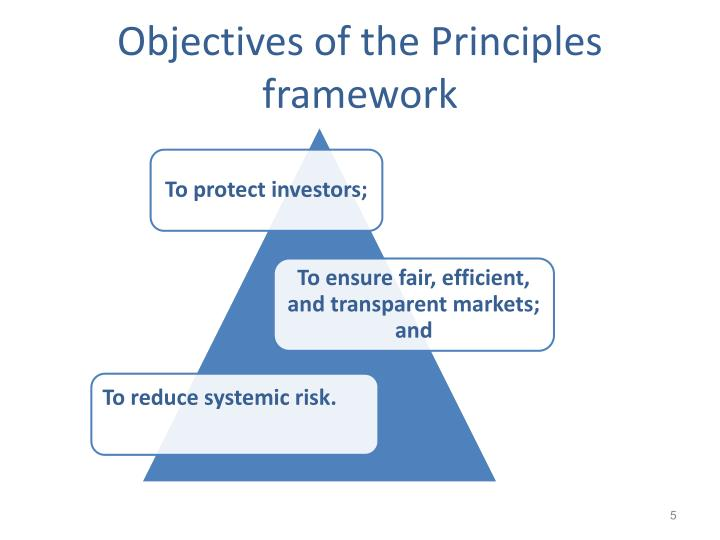 Objectives of the Principles