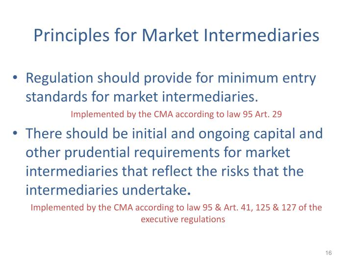 Principles for Market Intermediaries