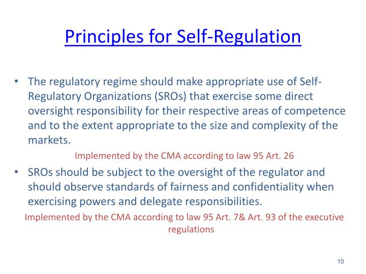 Principles for Self-Regulation