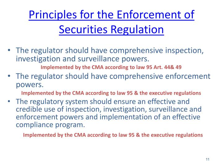 Principles for the Enforcement of