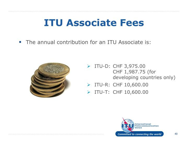 ITU Associate Fees