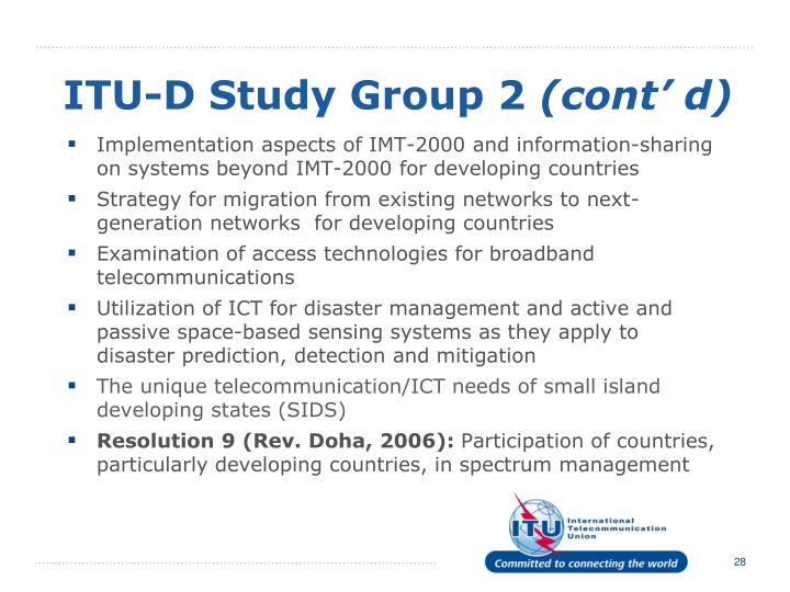 ITU-D Study Group 2
