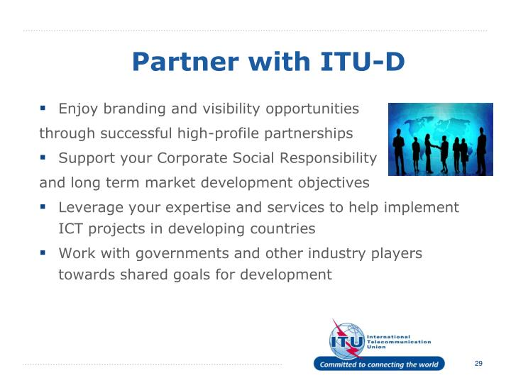 Partner with ITU-D